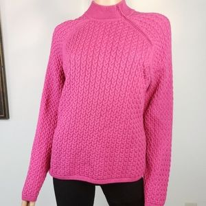 WAINSCOTT🦋Cable Knit Side Neck Zip Sweater Large